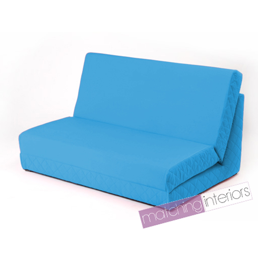 Aqua Fold Out Z Bed Double Chair 2 Seat Sofa Guest Bed