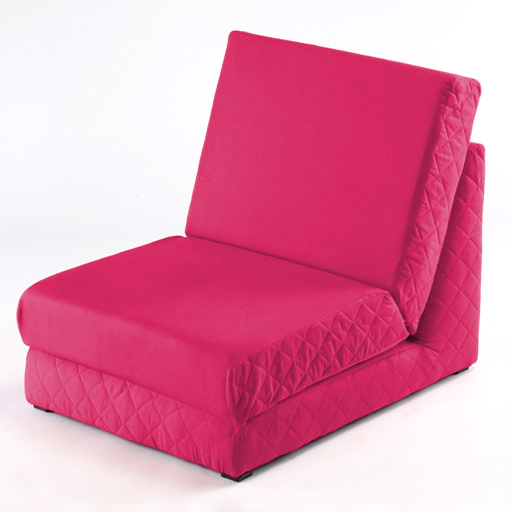 Pink Fold Out Z Bed Single Chair 1 Seat Chair Guest Bed