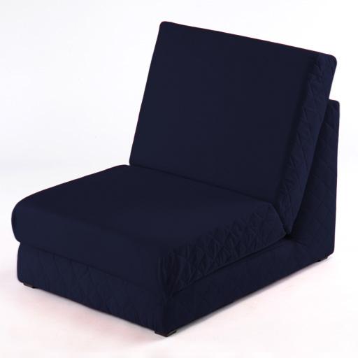 marineblau umklappbar z bett einzeln stuhlbett 2 sitzer sofa ausklappbar gast ebay. Black Bedroom Furniture Sets. Home Design Ideas