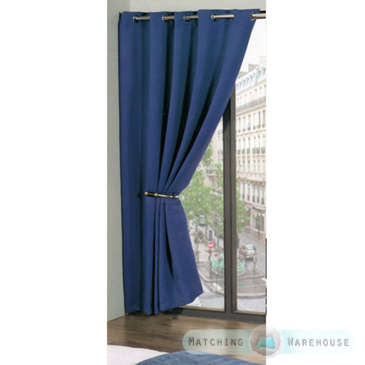 Ring Top Eyelet Plain Colour Dyed Black Out Thermal Curtains Kids ...