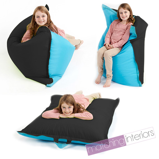 noir bleu pouf poire dalle grand pour enfants fauteuil en. Black Bedroom Furniture Sets. Home Design Ideas
