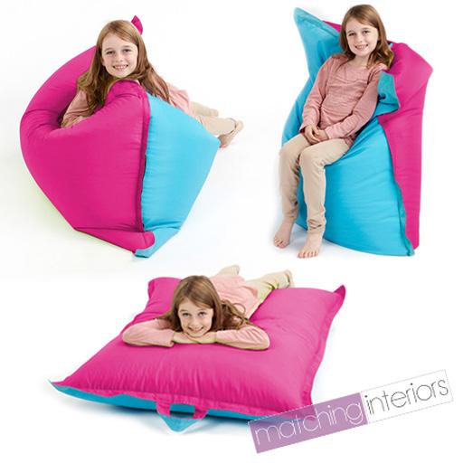rosa blau sitzsack platte gro kinder kissen. Black Bedroom Furniture Sets. Home Design Ideas