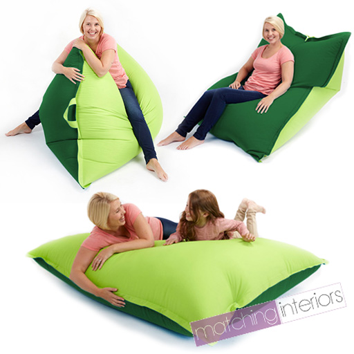 Details about Lime Green Bean Bag Slab XXL Giant Beanbag Floor Cushion ...