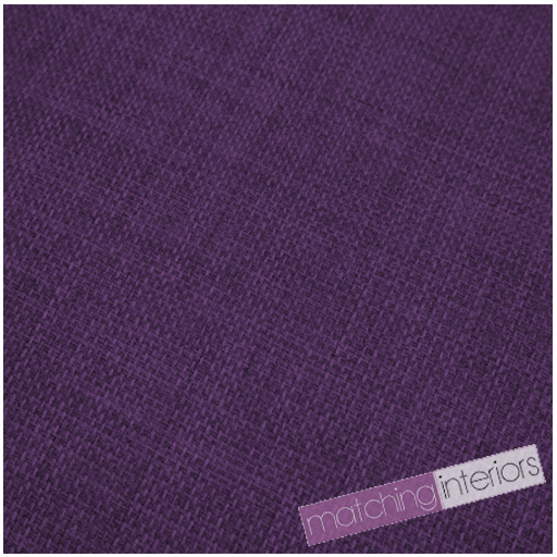 Purple Fabric Soft Linen Look Polyester Material Textile