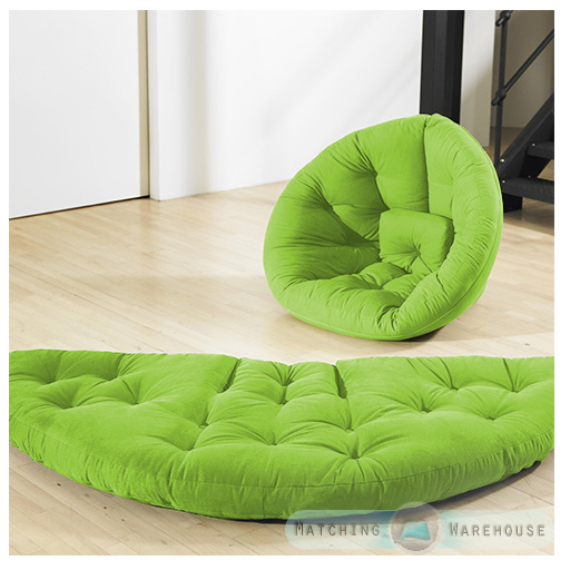 Nest Futon Chair Seat Mattress Bed Sofa Cotton Twill Folding Lounger Armchair