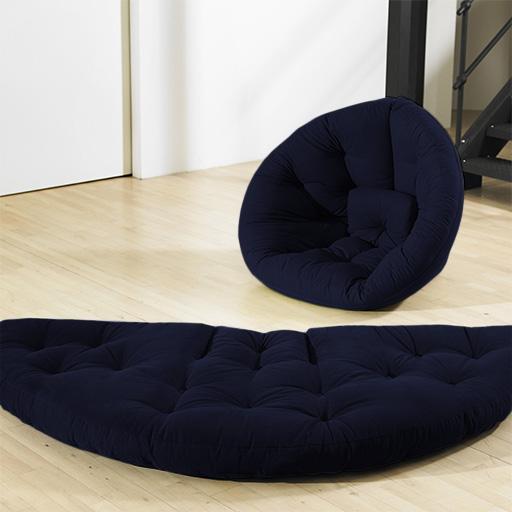 nest futon chaise si ge matelas lit canap coton serg pliable chaise longue fauteuil ebay. Black Bedroom Furniture Sets. Home Design Ideas