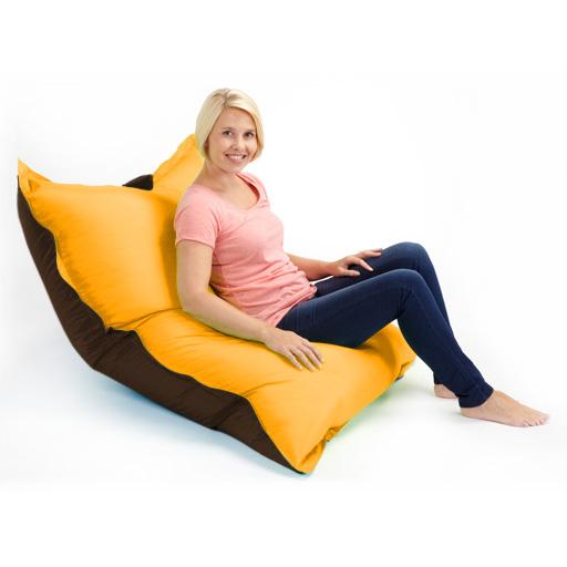 Two Tone Bean Bags Floor Cushion Large Water Resistant Indoor ...