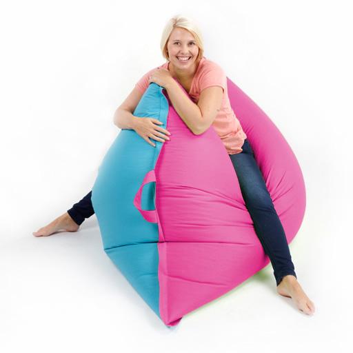 Two Tone Bean Bag Floor Cushion Beanbag GIANT XXL Waterproof In / Outdoor Garden