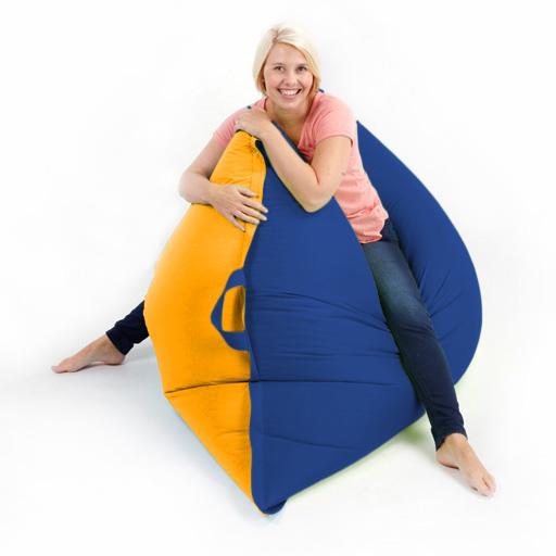 Two Tone Bean Bag Floor Cushion Beanbag Giant Xxl