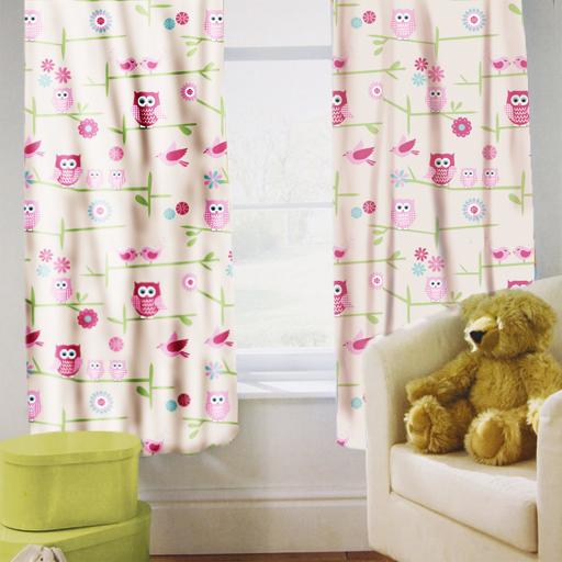 Childrens nursery bedroom curtains kids junior baby pencil for Kids curtain company
