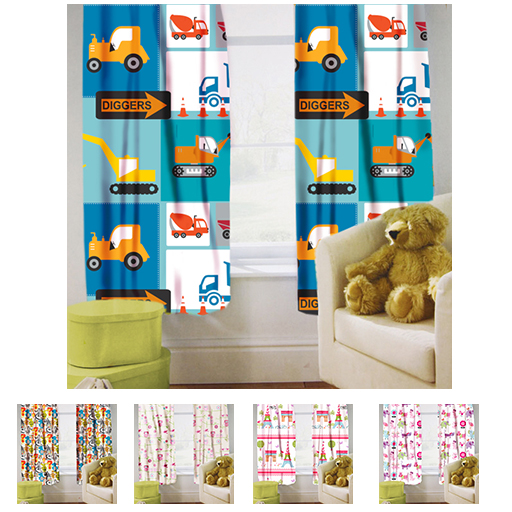 childrens nursery bedroom curtains kids junior baby pencil pleat with