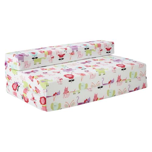 Childrens Kids Double Guest Folding Z Chair Bed Mattress