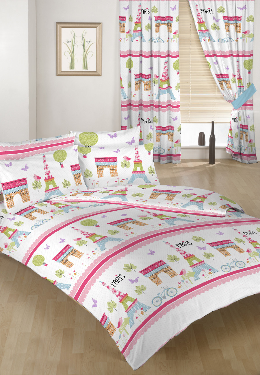 Paris Children S Double Bed Duvet Cover Set Amp 2