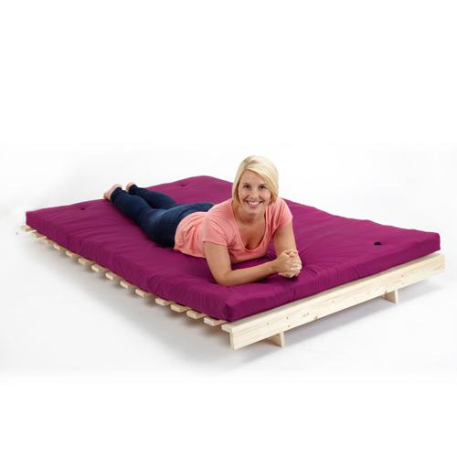 Pink 4ft double children 39 s bedroom futon wooden sofa bed - Sofa bed childrens bedroom ...