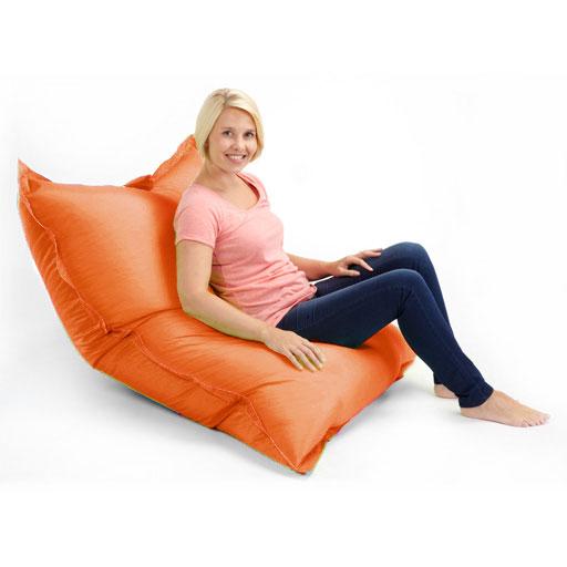 Orange Grand Ext Rieur Pouf Poire Jardin Tanche Chaise Coussin Sol Ebay
