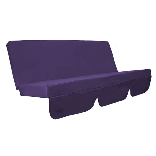 Purple Water Resistant Bench Cushion Set Only For Swing