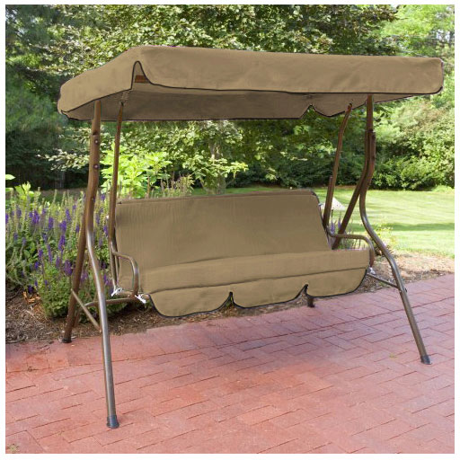 replacement 3 seater swing seat canopy cover and cushions. Black Bedroom Furniture Sets. Home Design Ideas