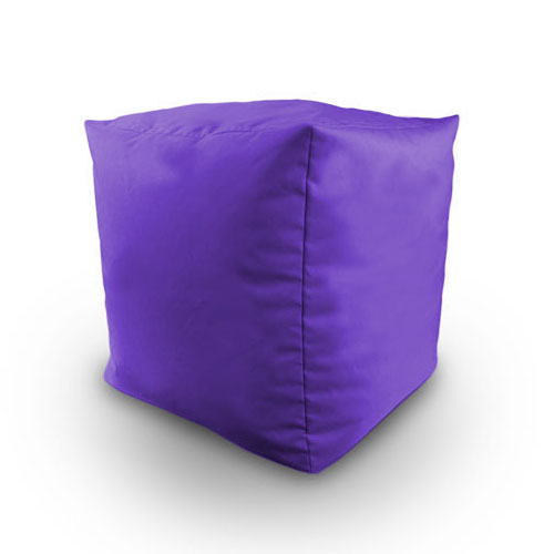 Cotton Twill Filled Bean Bag Cube Footstool Poufe Seat