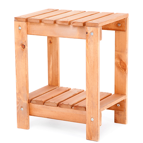 Wooden Slatted Side Table Snack Outdoor Garden Patio ...
