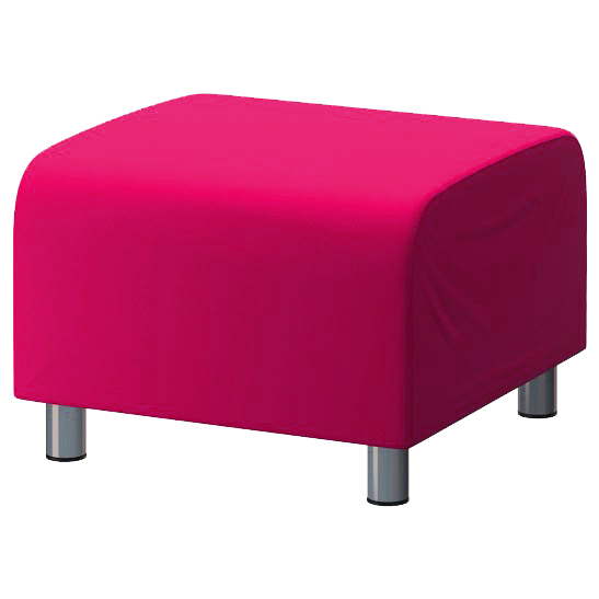 Pink Cotton Custom Slip Cover For Ikea Klippan Footstool