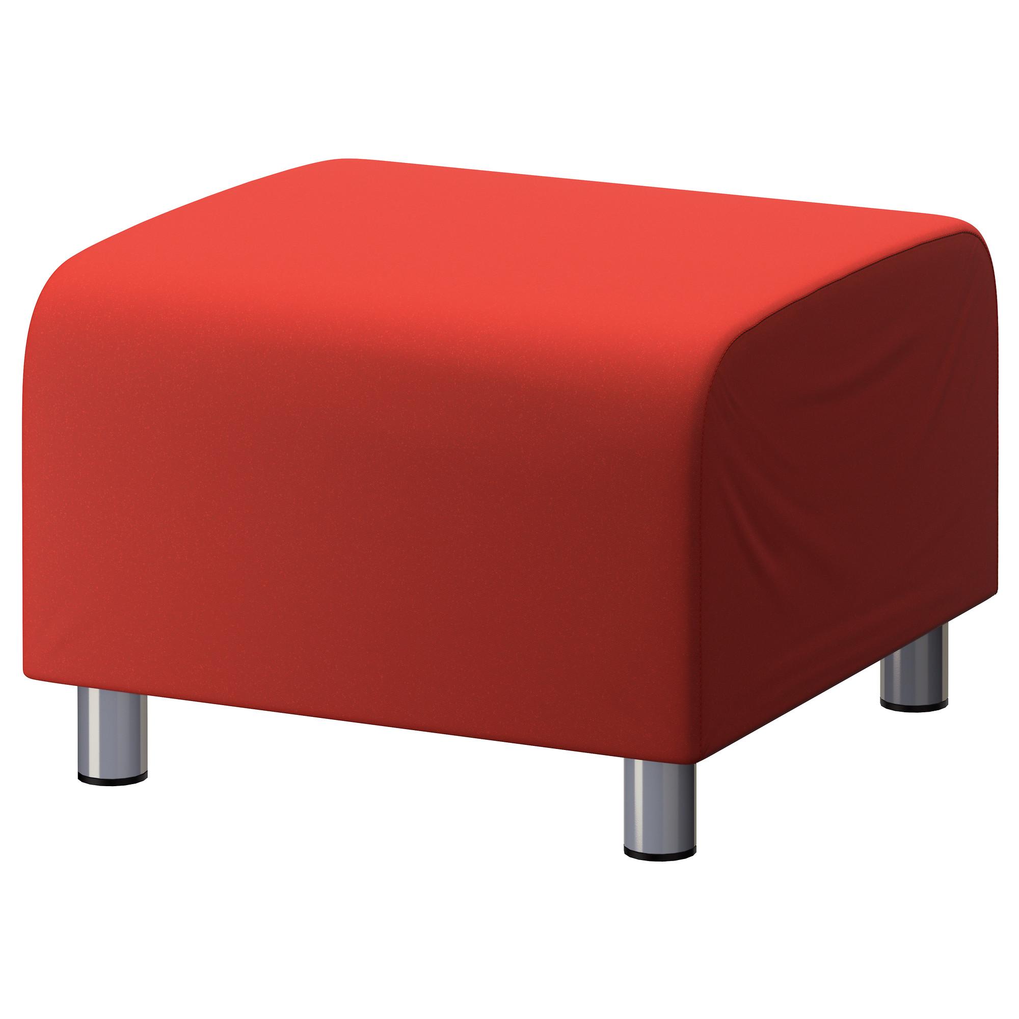 Red Cotton Custom Slip Cover For Ikea Klippan Footstool Sofa Cover Foot Stool Ebay