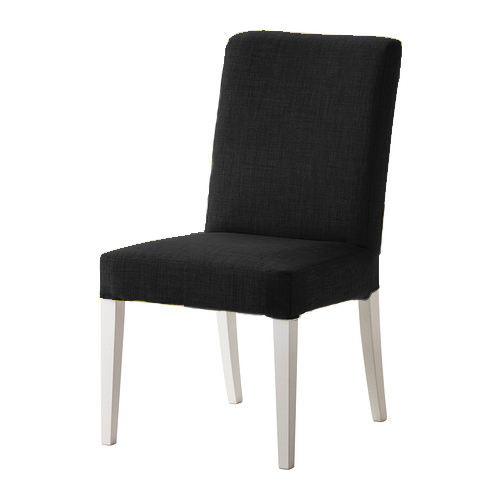 black skiftebo custom replacement slip cover for ikea henriksdal dining chairs ebay. Black Bedroom Furniture Sets. Home Design Ideas