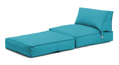 Turquoise Bean Bag Z Bed Lounger Outdoor Waterproof Garden Children's