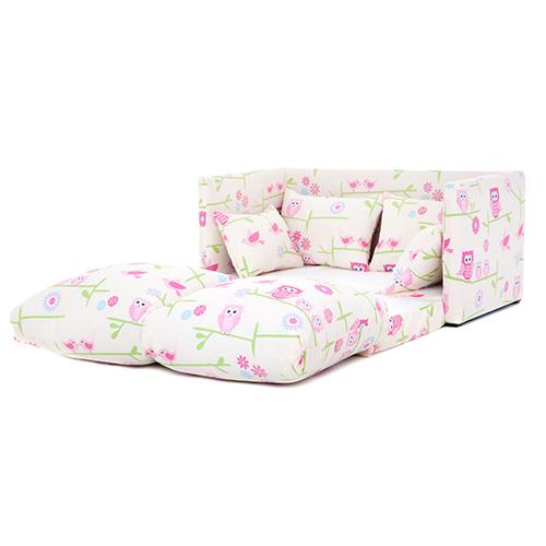 Owls print children 39 s bedroom sofa bed fold out futon - Sofa bed childrens bedroom ...