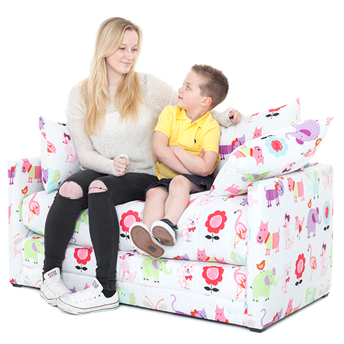 Cute Pets Print Children S Bedroom Sofa Bed Fold Out Futon