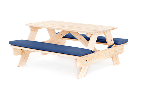 kids outdoor wood play picnic table bench set garden furniture ebay