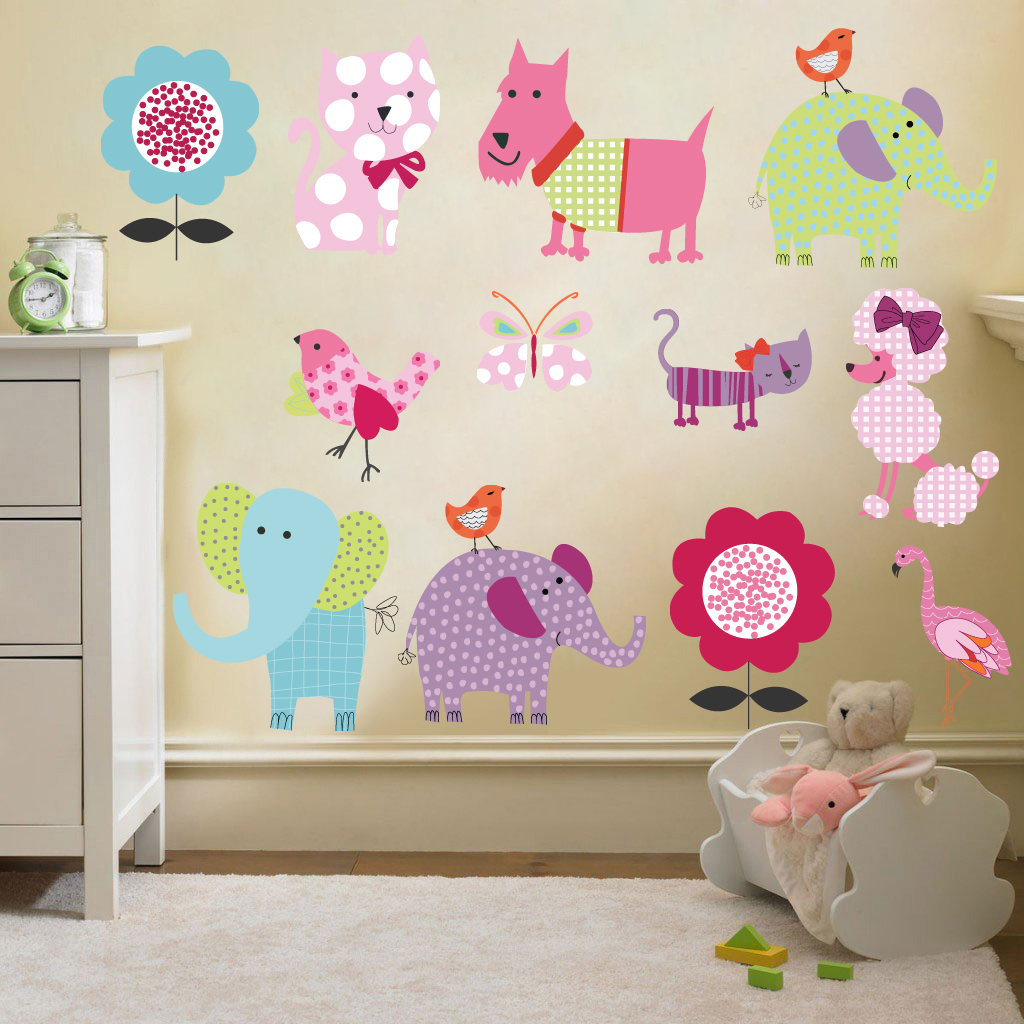 childrens kids themed wall decor room stickers sets funny kids wall stickers by acte deco digsdigs
