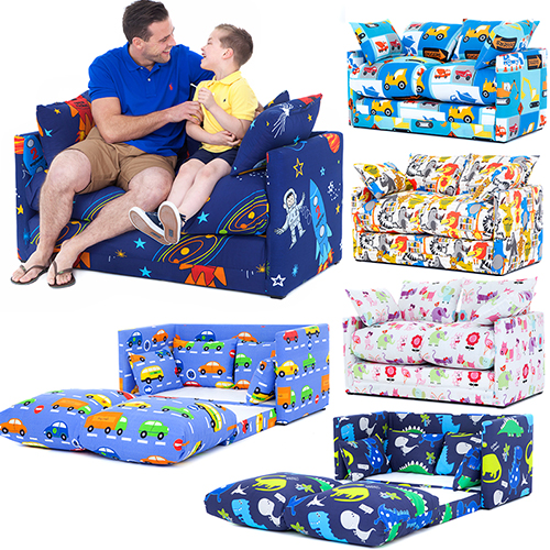 Children 39 S Prints Bedroom Sofa Bed Fold Out Boys Girls Seating Futon Guest Kids Ebay