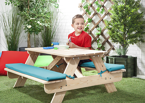 Children 39 S Kids Outdoor Furniture Wood Play Picnic Table