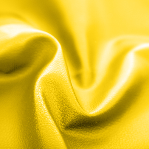Yellow Faux Leather Leatherette Upholstery Material Fr