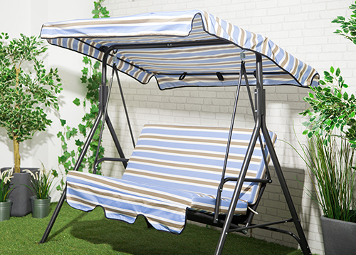 Replacement-2-&-3-Seater-Swing-Seat-Canopy- & Replacement 2 u0026 3 Seater Swing Seat Canopy Cover u0026 Cushion Set ...