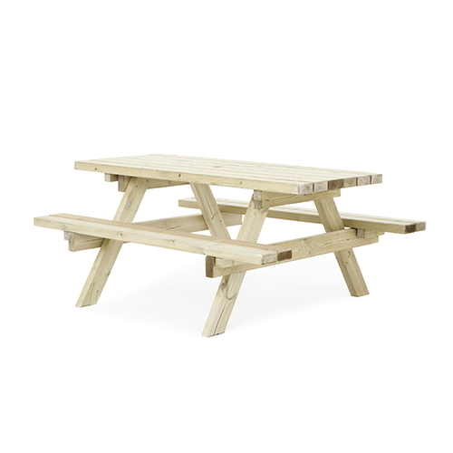 Ft pressure treated wood picnic table bench commercial