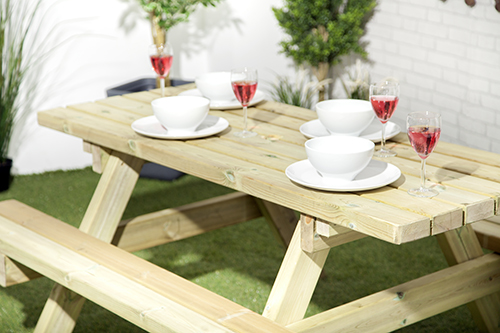 Fenster Holz Nach Ausen Offnend ~ 5ft Druck behandelte Holz Picknick Tisch Bank Commercial Grade Pub im