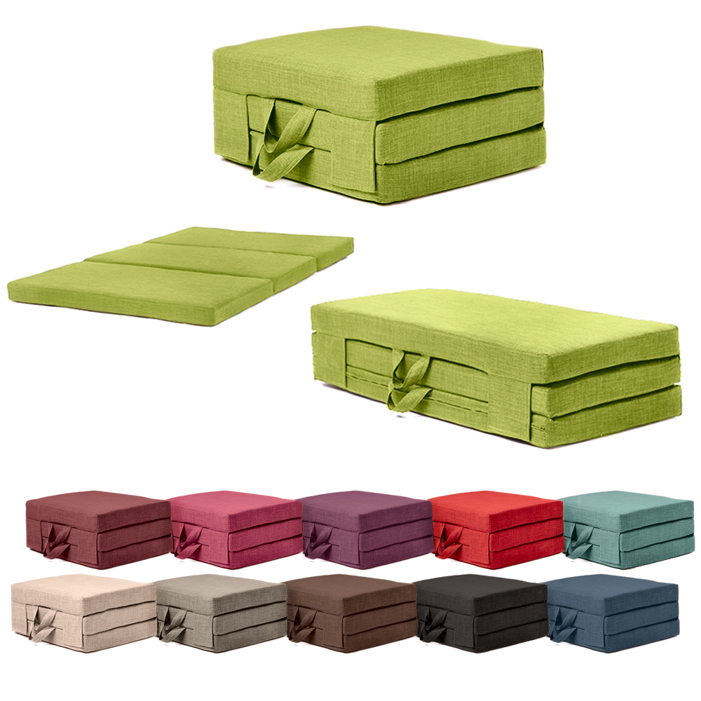 Fold Out Guest Mattress Foam Bed Single Double Sizes Futon Z Bed Folding Sofa