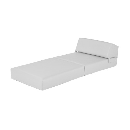 white faux leather single chair z bed guest fold up futon. Black Bedroom Furniture Sets. Home Design Ideas