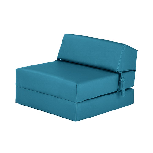 Perfect Turquoise Faux Leather Single Chair Z Bed Guest Fold Up Futon Chairbed  Mattress