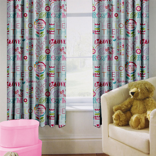 childrens nursery curtains kids junior tweens tape top. Black Bedroom Furniture Sets. Home Design Ideas