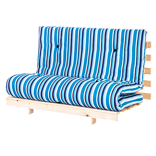 Double 4ft6 140cm luxury futon 2 3 seater wooden frame for 162 cm to feet