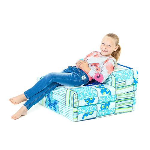 Children's Z Bed Fold Out Chair Butterfly Girls Mattress ...