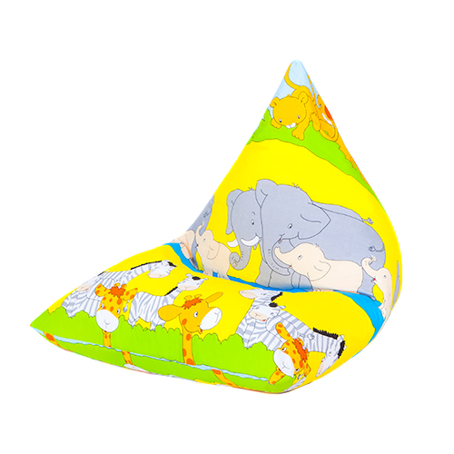 Children's Pyramid Shape Bean Bag Chair Gaming Large Kids ...