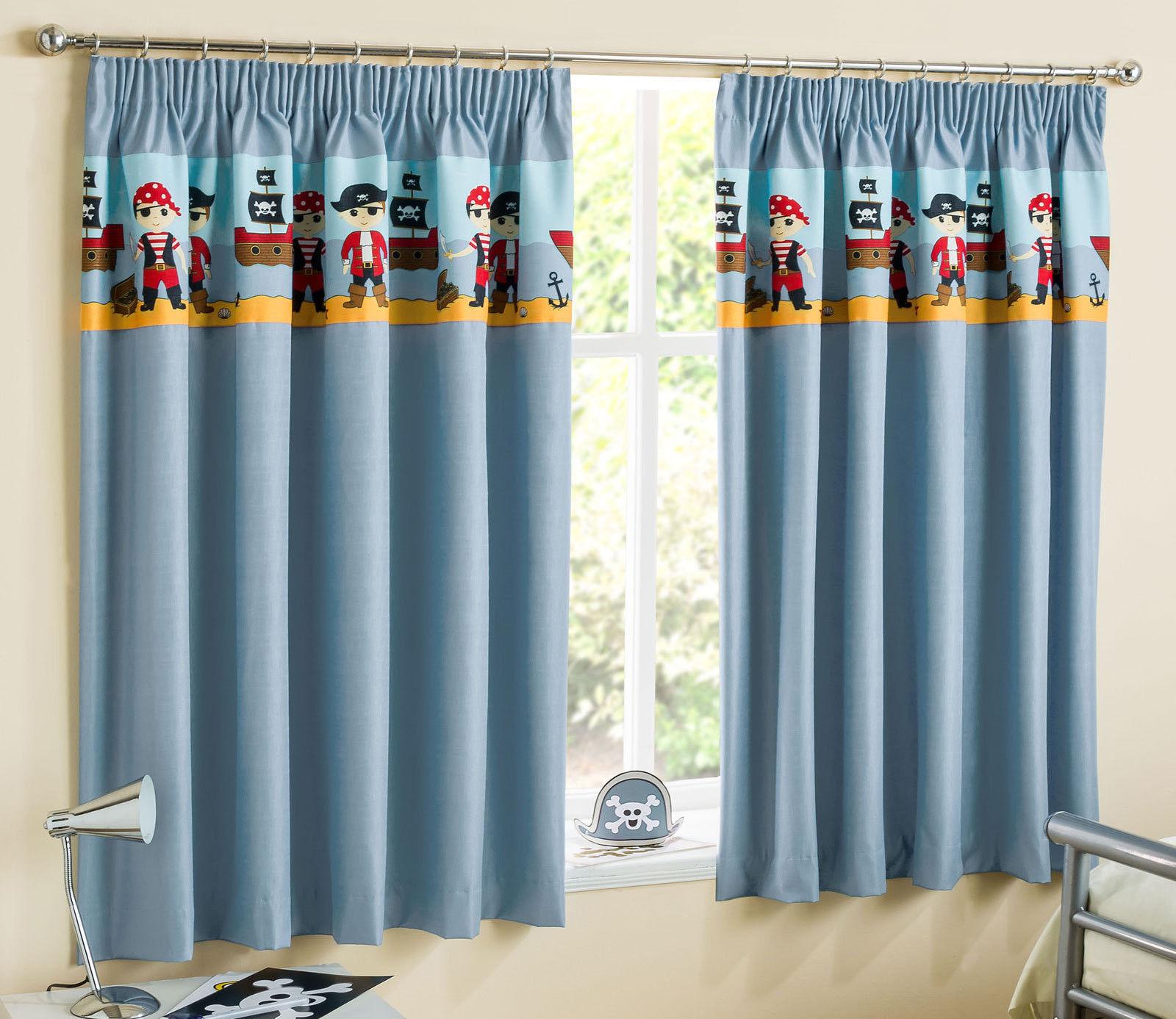 Children 39 s pirates curtains light reducing thermal kids - Cortinas store infantiles ...