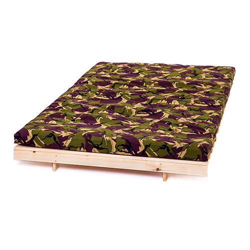 jungle camouflage double 4ft 125cm futon frame
