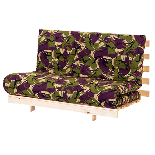 double 4ft6 140cm luxury futon 2 3 seater wooden frame