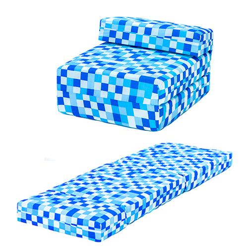 Blue Pixels Kids Single Chair Bed Sofa Z Bed Seat Foam