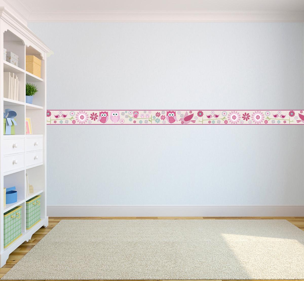 wallpaper borders children 39 s kids nursery boys girls bedroom wall self