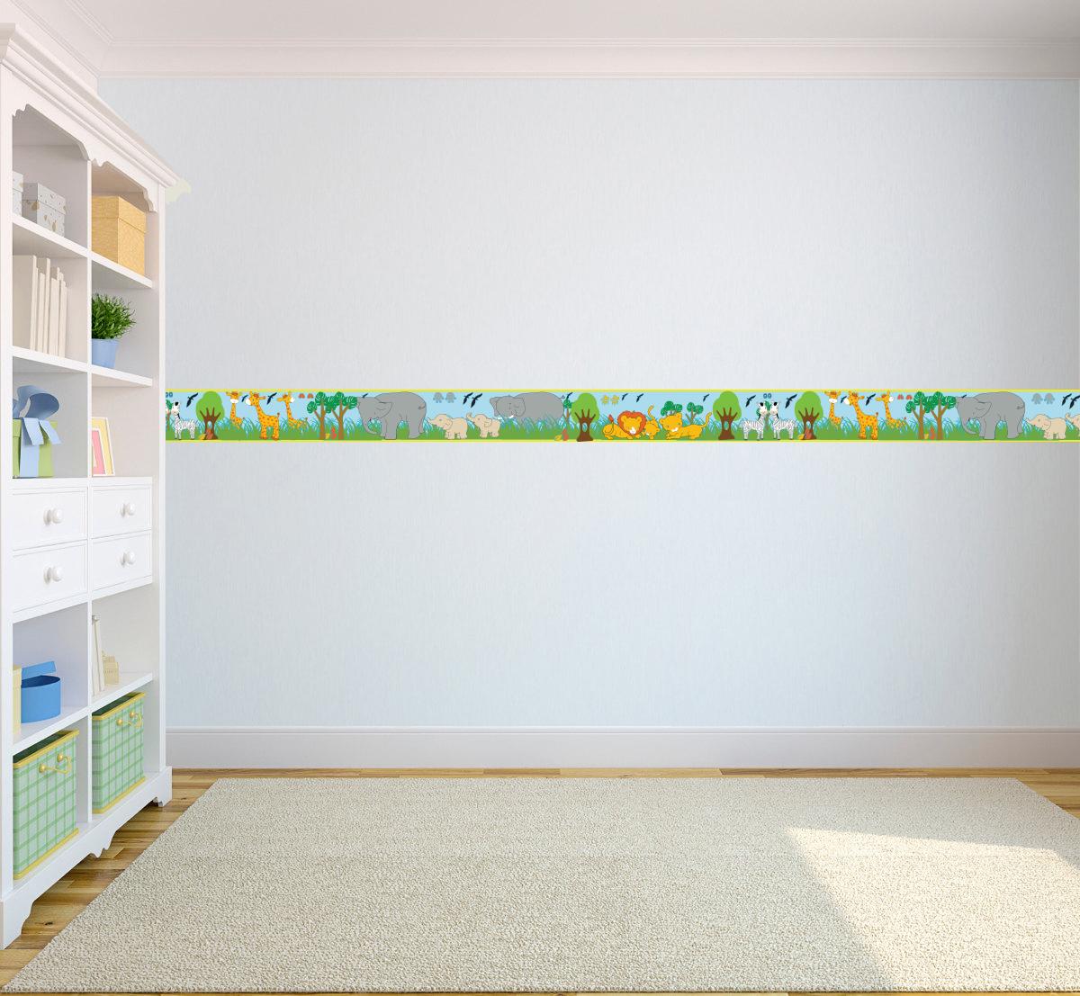 Bordures papier peint pour enfants cr che d 39 enfants for Papier peint adhesif repositionnable